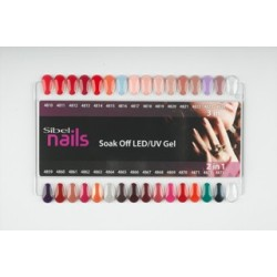 SOAK OFF GEL 2 in 1 COLOUR CHART